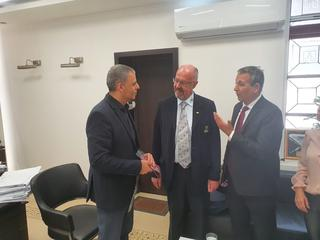 ביקור נשיא אולימפיאדת הילדים לרשויות מקומיות בכפר סבא