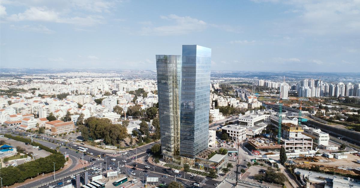 הדמיה של מגדל המשרדים החדש