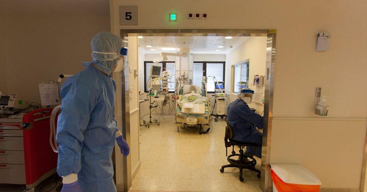 מחלקת הקורונה בבית חולים מאיר