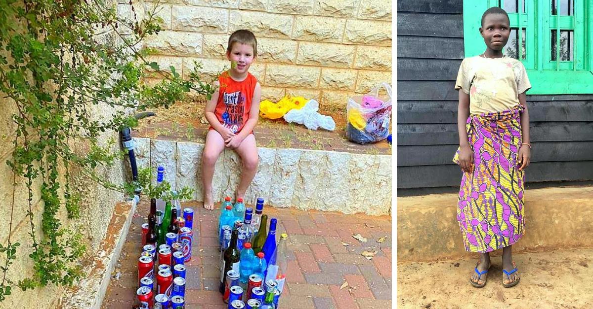 מימין: שרלין ויהלי גלר עם הבקבוקים
