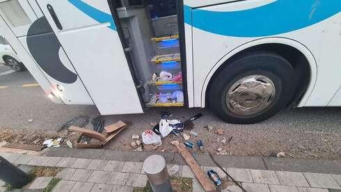 נמצאו כלי תקיפה באוטובוס