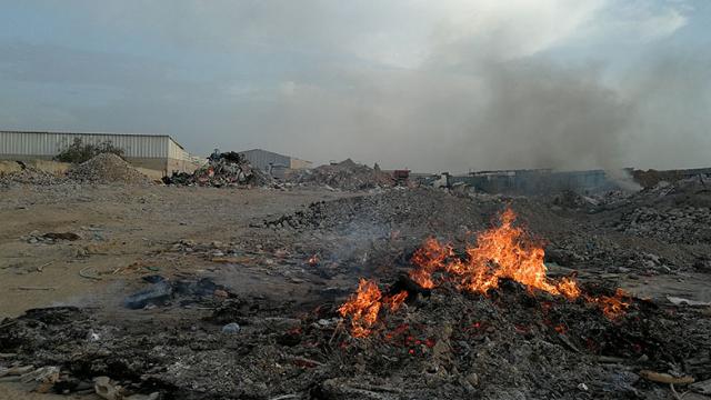 שריפת פסולת לא חוקית