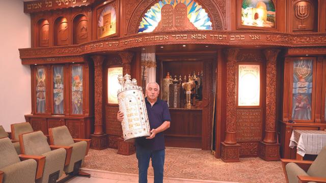 בית הכנסת תפילה לדוד. ראש הוועד שלום בן שלוש