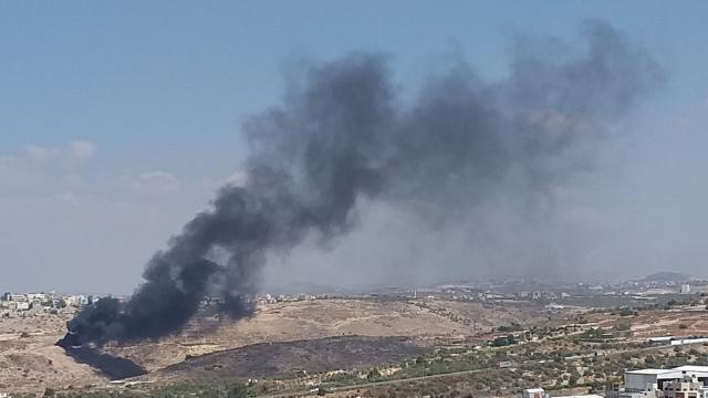 אחת השריפות השבוע בקלקיליה