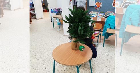 עץ אשוח בגן הילדים | צילום: פרטי
