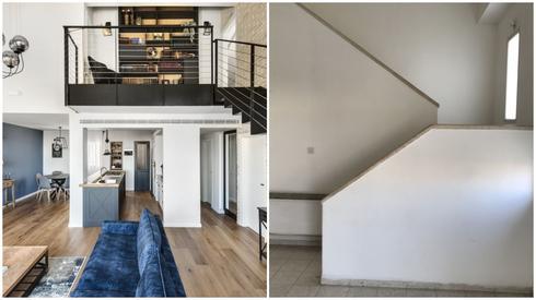 """לפני ואחרי """"הלל אדריכלות"""". צילום: עודד סמדר"""