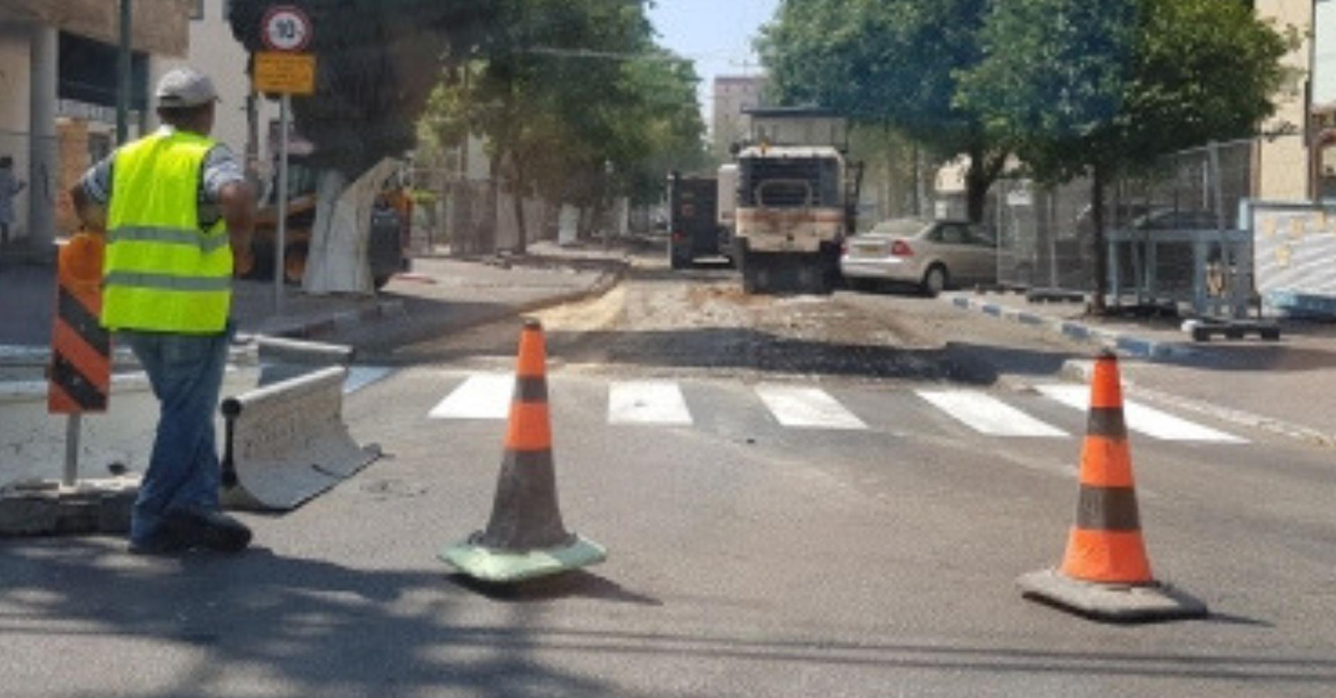 עבודות בכביש. בקרוב ברחוב השומר   צילום ארכיון: אביגיל קדם