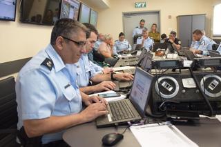 """חמ""""ל משטרתי ביום הבחירות   צילום: דוברות המשטרה חוף"""