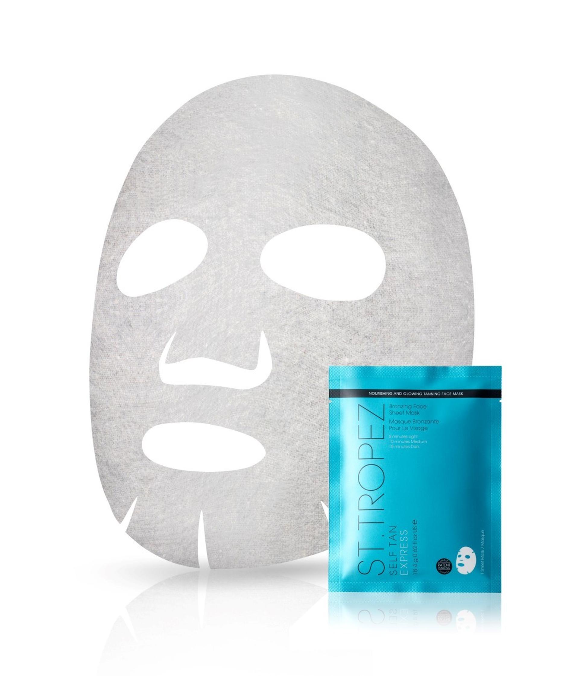 "מסכת בד לשיזוף עצמי ST.TROPEZ Self Tan Express Face Sheet Mask יח""צ"