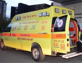 """אמבולנס מד""""א. צילום: הרצל יוסף"""