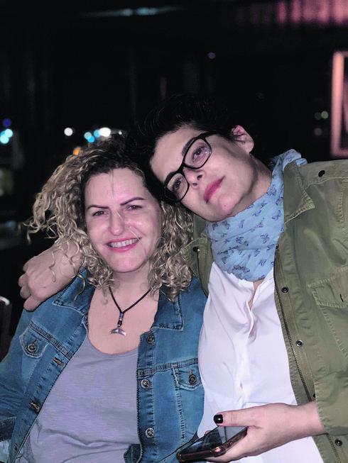 עם בת הזוג דפי   צילום: פרטי